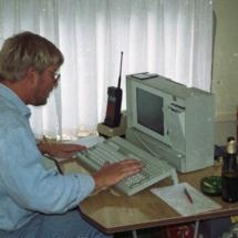 Arne med computer log